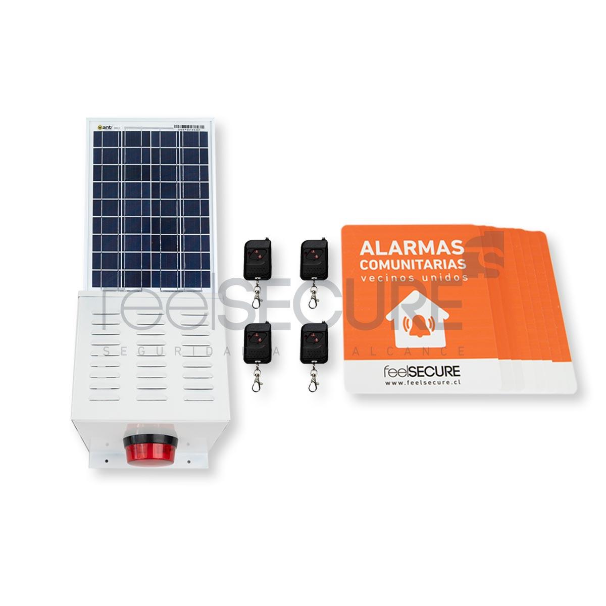 Alarma Comunitaria Kit 10 Solar