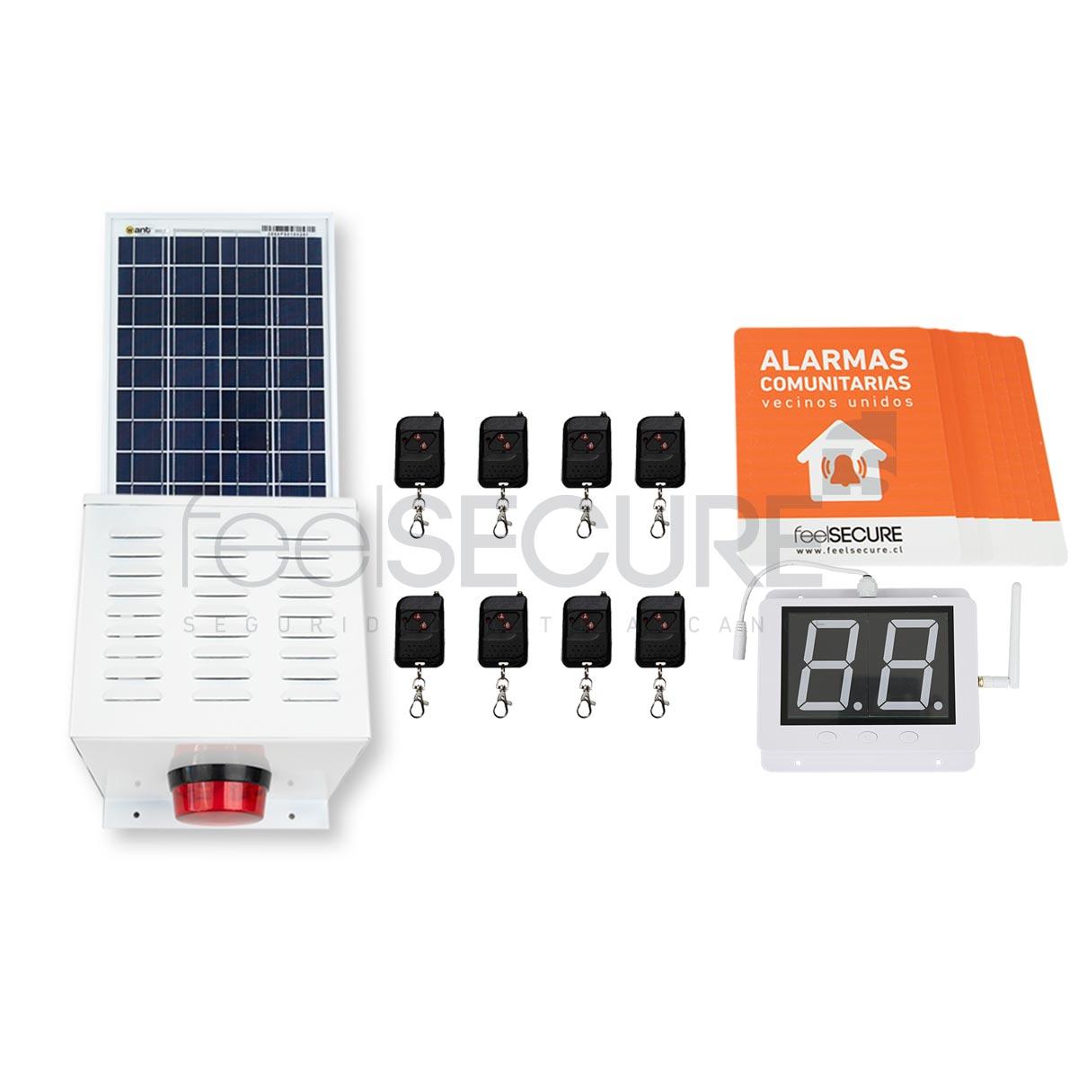 Alarma Comunitaria Kit 14 Solar