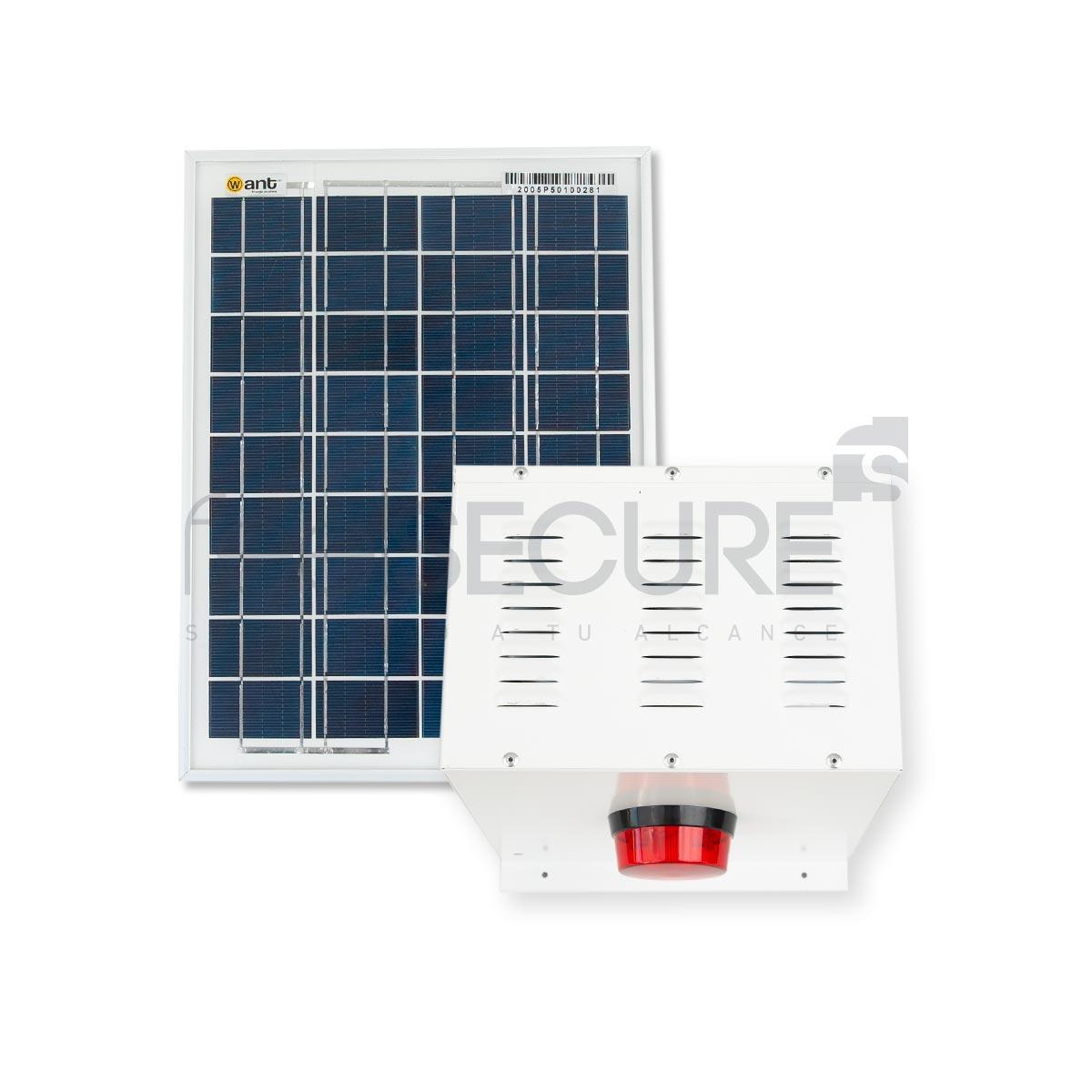 Alarma 30w + panel solar